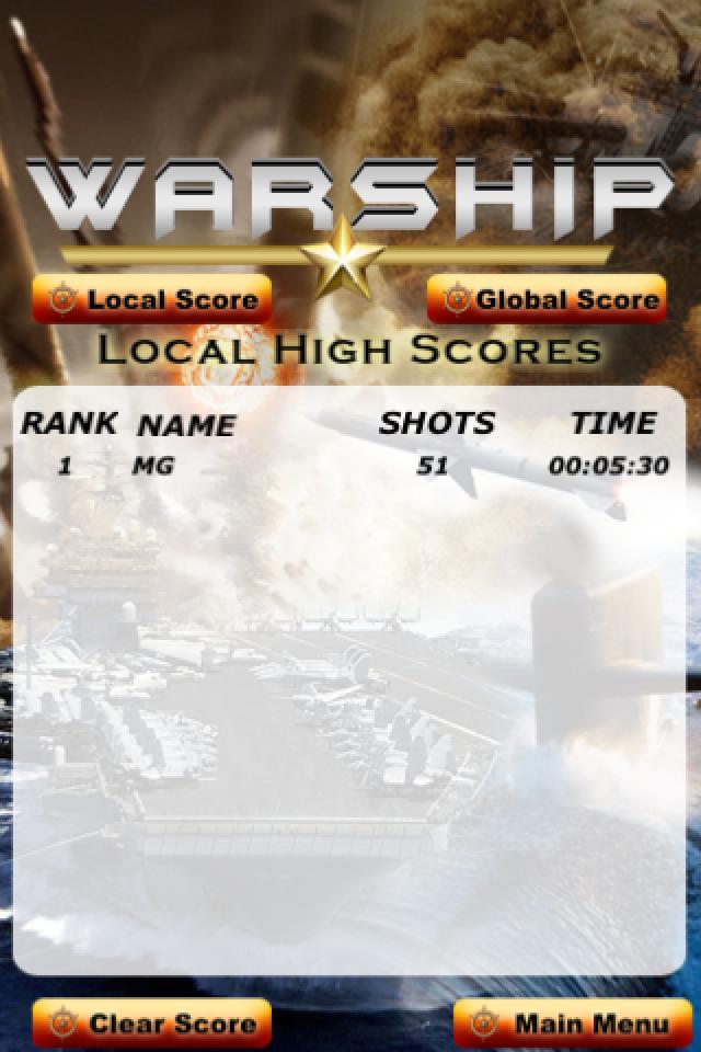 Screenshot WARSHIP – iPhone Edition